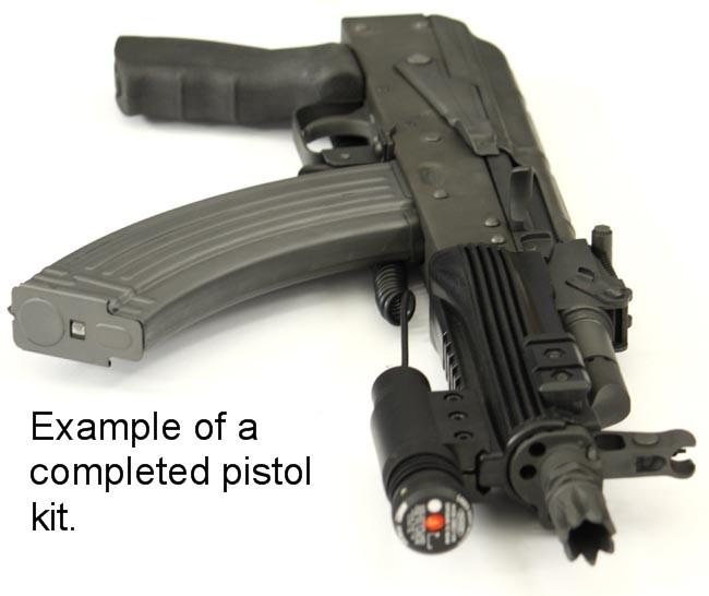 9 AK-Pistol Parts Kit 7 62 x 39 With Chrome Barrel